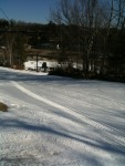 I love making first tracks!! #ski #Crotched_Mtn