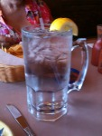 I asked for a huge glass of water -- and got it.